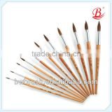 Professional horse hair paint brush,artists brushes
