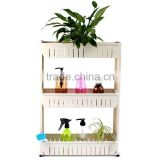 plastic kitchen rack,plastic storage bathroom shelf