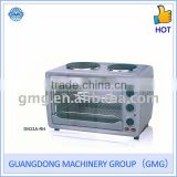 33L 110V-240V 1200W Electric Oven With Two Hotplates
