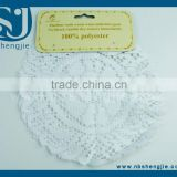 Trade Assurance 2Pcs A Series of Polyester Beauty Round Lace Placemat or Lace Table Topper
