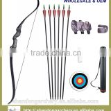 affordable recurve bow for adult with black limbs