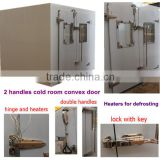 polyurethane insulation door with double handle for cold storage room