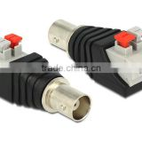 Coax Cat5 Cat6 BNC female CCTV Connector,BNC female Jack Video Balun Connectors BNC Female plug