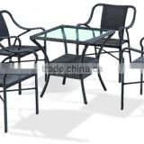 Hotsale Outdoor Garden Wholesale PE Plastic Rattan Wicker Furniture Sofa Set tables and chairs for restaurant