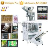 Peanut, cashew nut packing machine. Snacks VFFS packaging machine. Automatical grain fill seal packing machine. DCTWB-420Z