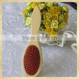 Safe wooden hair brush new 2015 with protecting ball