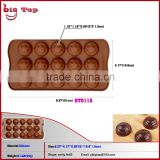 BT0112 Smiling Face Shape Silicone Ice Cream Tools Smiling Face Shape Silicone Ice Cube Tray Christmas Silicone Ice Cube Tray