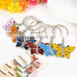 Elegant colorful butterfly keychain/key ring, factory price butterfly key chain for girl/woman gift