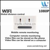 Real Power Socket Wifi Camera ,H.264 -1080P remote wireless hd camera light switch Socket hidden camera