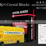 3D CRYSTAL BLOCKS DOUBLE-DECKER BUS 54PCS PUZZLE TOY Y12922051