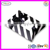 E191 Striped Printed Paper Pillow Gift Box Small Size Modern Stripe Custom Pillow Boxes