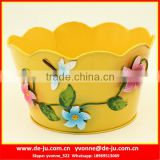 Antique Metal Flower Pot Painting Designs