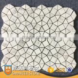 White marble mosaics flower pattern mosaic tile for wall