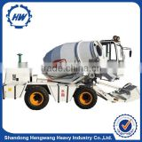 Self Feeding Self Propelled 2 cbm Concrete Mixer Truck