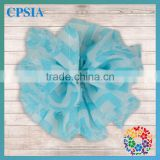 2014 Boutique Aqua Blue White Toddler Infant Chiffon Decoration Flower with Lovely Design Handmade Hair Accessories