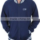 cotton man fashion varsity baseball Jacket in blue color