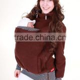 3 in 1 Multifunctional Baby and Mother Carriers Maternity Kangaroo Fleece Jacket Winter Hoodie Coat