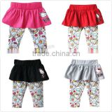 fashion baby girls kitty legging-skirts children leggings and tights