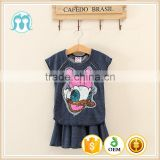 clothing sets for kids 1-5 Y garment cheap price navy colour wholesale 5pieces girl