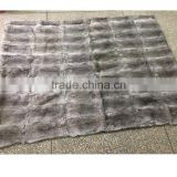 YRFUR YR908 Real Rabbit fur blanket Genuine Rabbit Full Skin Fur Rugs