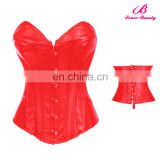 NO MOQ Limit red leather corset bustier