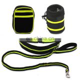 Hands Free Dog Leash with Waist Bags Pouch Bottle Holder Bag Reflective Waist Belt Elastic Leash for Running Jogging Walking