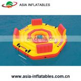 Giant inflatable island floating lounge for water sport inflatable floating island 4-person capacity