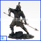 Classic antique metal ancient Chinese soldiers statues
