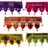 Decorative Beaded Sitara Toran Embroidered Door Cotton Mirror Work Toran Window Valance Topper Toran door hanging wholesale art