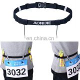 leather buckle running slimming belt AONIJIE Unisex Marathon Running Race Number Belt with Holder Belt