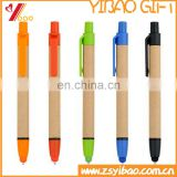 Cheap custom print logo stylus on paper / screen touch ball point pen for ipad