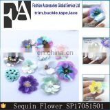 New Handmade Flower Sequins Sew On Patches Pearl Beaded Embroidered Applique Badge Fabric Apparel Bag Shoes