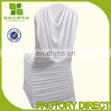 Modern design hotel ruffled chair cover with swag wholesale online