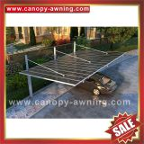 outdoor villa alu aluminium aluminum alloy metal polycarbonate parking carport car port shelter canopy awning cover kits for sale