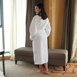 Bathrobe suppliers hotel white waffle women robes wholesale