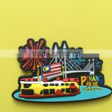 Customized made one side Penang 3d pvc keychain for Malaysia promotional souvenirs gifts