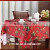 Christmas Polyester New Design Ready Made Table Cloth                                                                                         Most Popular