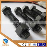 AOJIA FACTORY AUTO BLACK HIGH STRENGTH HEX HEAD BOLTS DIN933 GRADE 8.8 COMPETITVE PRICE