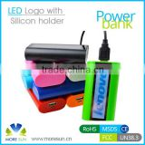 With LED logo mobile power bank , 4400mah power bank phone charger , mobile holder function power bank 4400mah