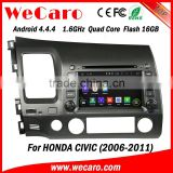 Wecaro android 4.4.4 car dvd player China Factory for civic android bluetooth 2006 - 2011