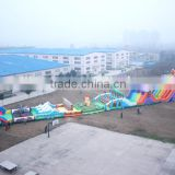 2016 New inflatable amusement equipment straight line adventure factory supply large games