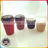 Double Ripple wall disposable paper coffee cups and lids                                                                         Quality Choice