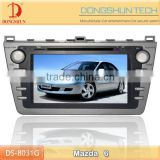7 inch HD touch screen 2008-2012 Mazda 6 car DVD GPS with bluetooth,IPOD,digital TV available