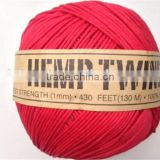 Solid Color Hemp Twine Cord for Packaging