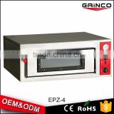 Electric powered commercial stainless steel pizza oven with high temperate glass window EPZ-4