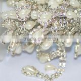 Factory Sale Pearl Cup Chain, Acrylic Rhinestone Chain, Crystal Bridal Cupchain for Garment