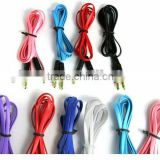 Noodle Deisng 3.5mm to 3.5mm Colorful Car Aux audio Cable Extended Audio Headphone Stero Cable
