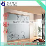 Haojing glass supplier 4mm 5mm 6mm spray painted glass