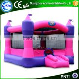 pink color girls favorite air bouncer inflatable trampoline baby bouncer