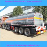 Tri Axle Acetic Acid Aluminium Alloy 35cbm Chemical Liquid Tanker Semi Trailer,35 Ton Chemical Liquid Tank Semi Trailer